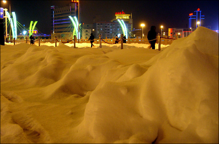 张家口的大雪图片 2010年张家口第一场大雪组图